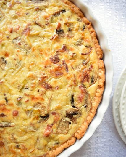 Leek, Mushroom & Bacon Tart