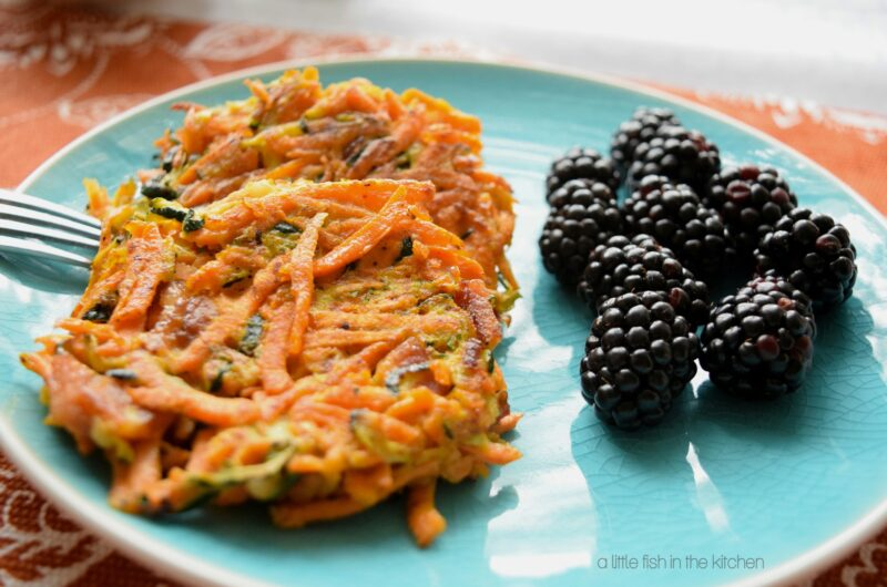 Sweet Potato, Zucchini and Bacon Pancakes with (or without) Gorgonzola Cheese