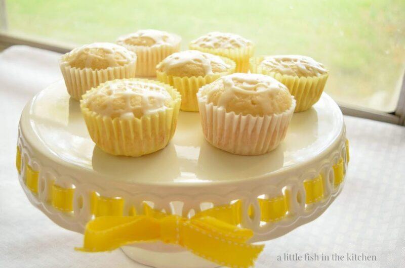 Sweet Lemon Muffins with Quick Lemon Glaze