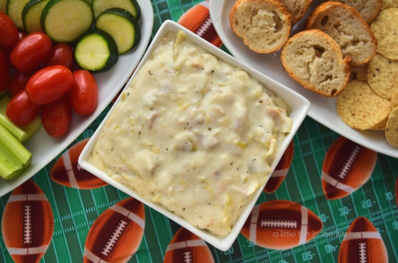 Chicken and Artichoke Alfredo Dip