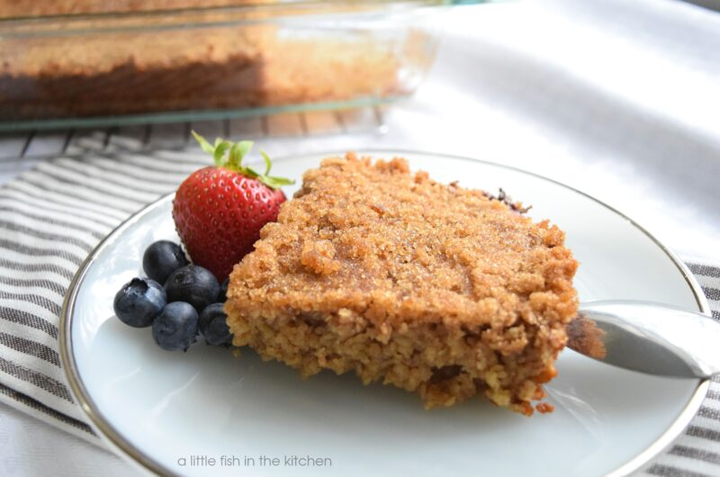 Spiced Brown Sugar Baked Oatmeal