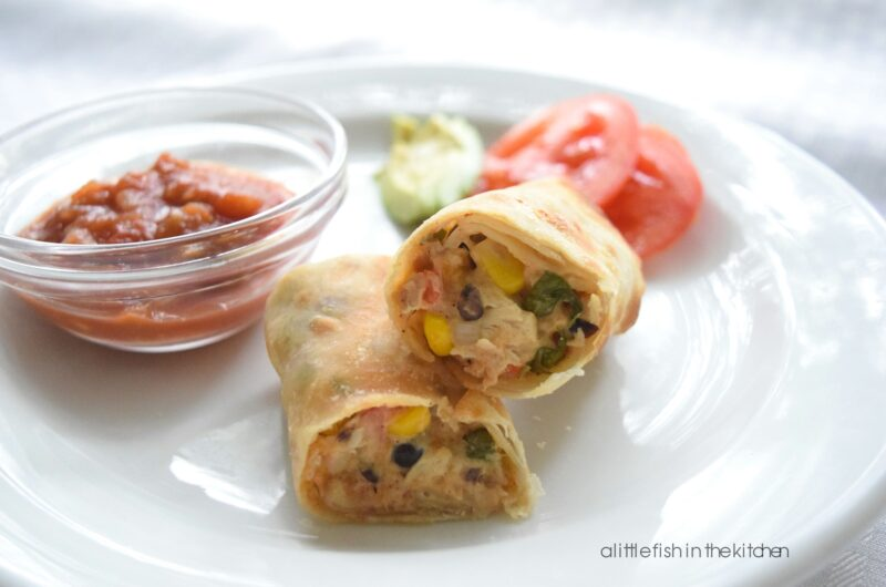 Cheesy Southwestern Chicken Egg Rolls
