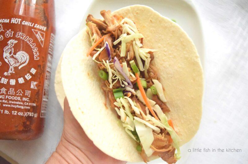 Slow-Cooker Mu Shu Chicken Wraps