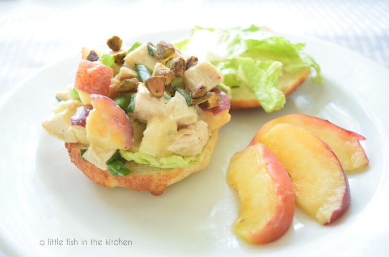 Peach-Pistachio Chicken Salad